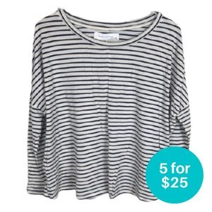 5/$25 - Zara Collection Striped Long Sleeve Top M